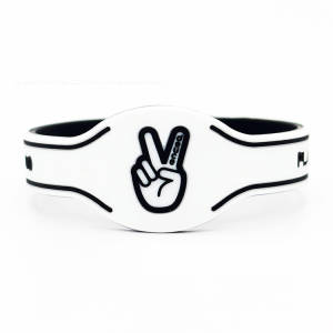 Rubber Bracelet Silicone Wristband Basketball Bangle Lovers' 1pcs Sports Double-Colors