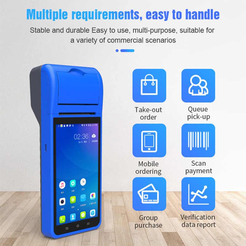 RADALL POS Nhà Ga Hệ Thống POS PDA Máy Quét Mã Vạch Android 3G WIFI Bluetooth Không Dây Nhận Hàng-Máy In Hóa Đơn Máy Quét Thiết Bị RD6000