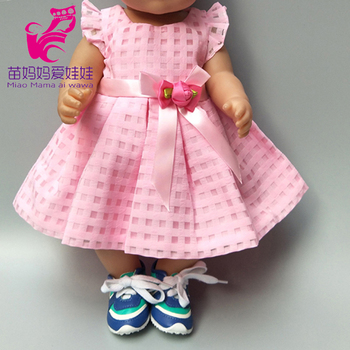doll dress for 17 inch 43cm baby Pink clothes 18 america girls dropshipping