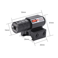 US Red Dot Laser Sight for Picatinny and Rifle with 635-655nm Adjustable 11mm/20mm Picatinny/Weaver Mount 5