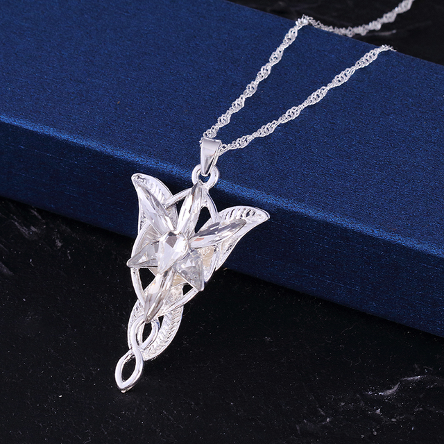 The Lord of the Rin gs Necklace Evening Star Pendant Necklace crystal Twilight star pendant necklace women jewelry wholesale Hot