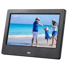 7 дюймов Экран светодиодный Подсветка HD Цифровая фоторамка электронный альбом фото музыка пленка полный Функция, хороший подарок для ребенка