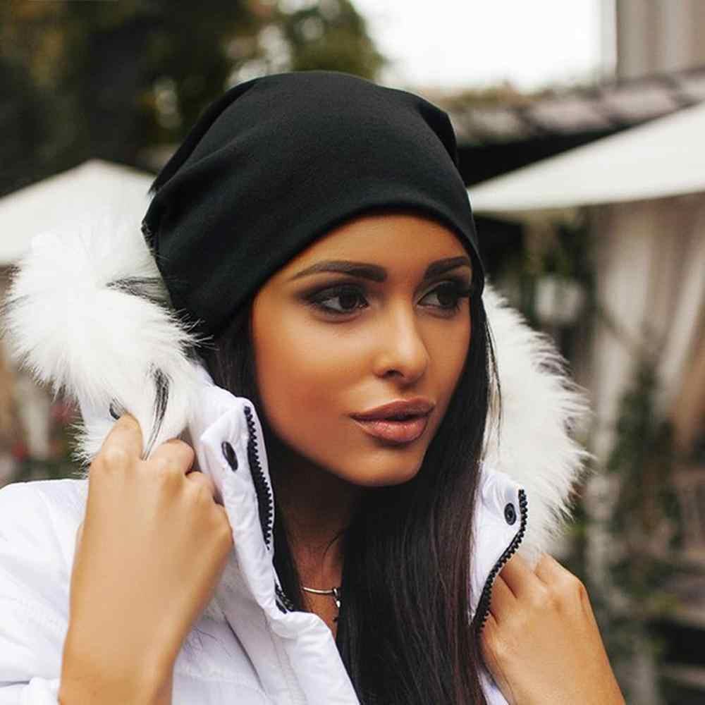 2019 Casual Alla Moda di Inverno di Autunno Caldo Confortevole Hip Hop Kitting Uomini Della Protezione Delle Donne di Colore Solido Casual Berretto di Lana Cappello di Regali
