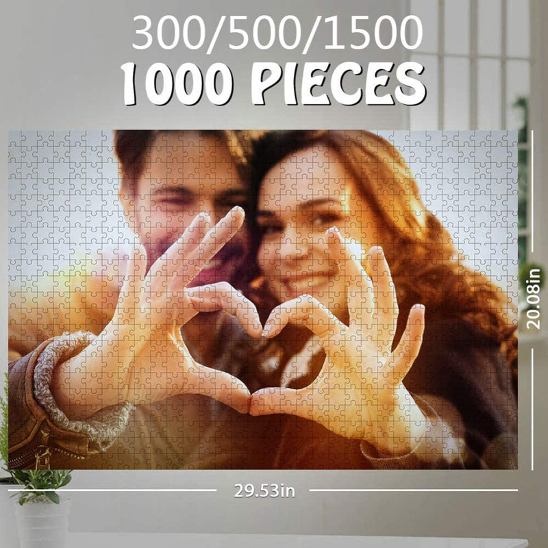 200/300/500/1000/ Pieces Wooden Photo Custom Jigsaw Puzzle DIY Personalized Gifts Puzzles For Kids Adult 3