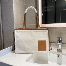 New Fashion Womens Shopping bag Leather Canvas Ladies Handbags Tote bags Girls Purse