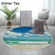 Silstar tex sea landscape хлопковый ковер Круглый 3d коврик