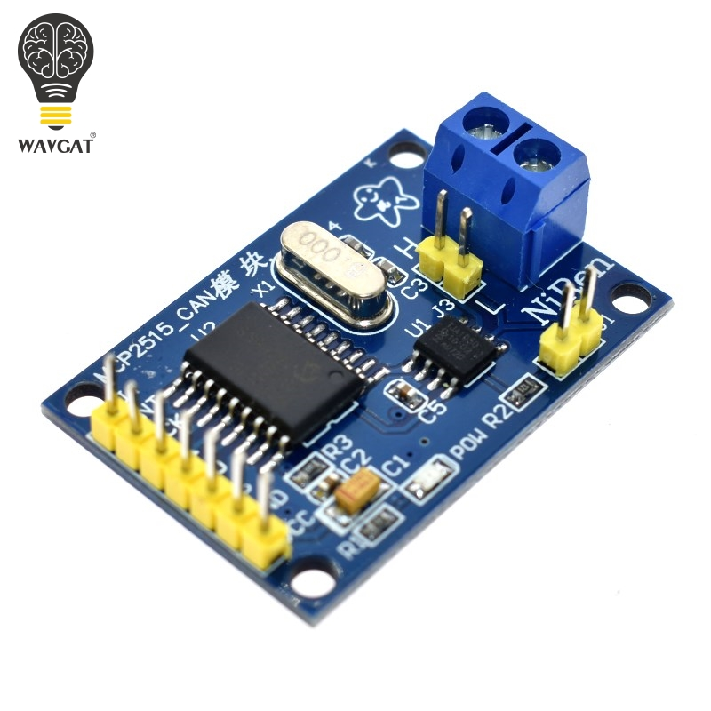 WAVGAT MCP2515 CAN Bus Module Board TJA1050 Receiver SPI For 51 MCU ARM Controller NEW