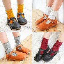 C905 детские носки zhuo shang mian pin новые стильные зимние носки ярких цветов с оборками