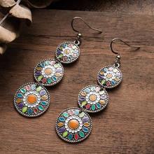 Multicolor Vintage etniczne Boho kropla wody kolczyki dla kobiet moda 2020 indyjska biżuteria ślubna zwisające kolczyki dla panien młodych