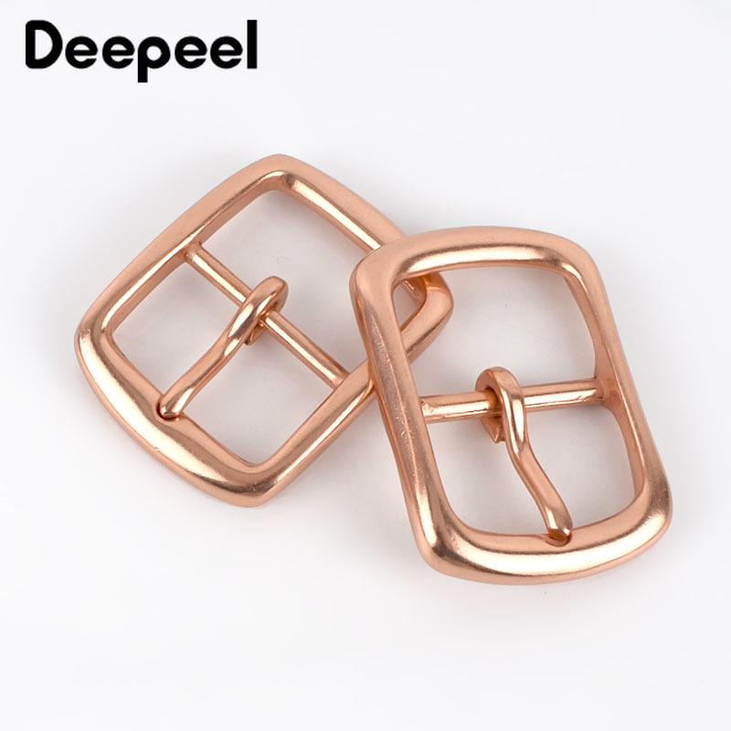 Deepeel 1pc 40mm Copper Men's Belt Buckle Head DIY Leather Craft Jeans Trousers Casual Garment Decoration For 38-39mm Belt YK012