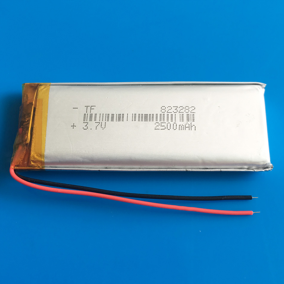 <font><b>3.7V</b></font> <font><b>2500mAh</b></font> polymer lithium <font><b>Lipo</b></font> rechargeable <font><b>battery</b></font> 823282 for GPS DVD PDA PAD power bank e-book camera tablet PC image