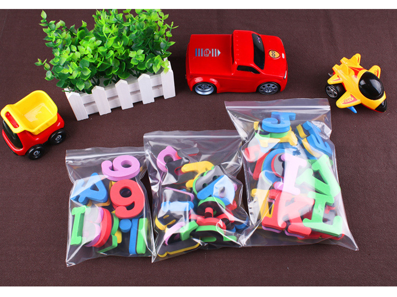EVA Magnetic Color Uppercase And Lowercase English Alphanumeric 3D Stickers Soft Silicon Material Blackboard Magnetic Stickers