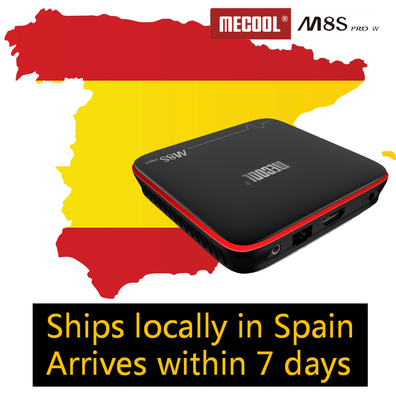 Mecool M8S PRO W Android Tv 2gb 16gb Android 7.1 Smart Tv Box 4K H.265 2.4G Wifi With Voice Remote Control Spport Iptv Subscrip