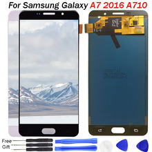 For SAMSUNG GALAXY A7 2016 LCD Display A710 A7100 A710F A710M Touch Screen Digitizer Assembly Replacement