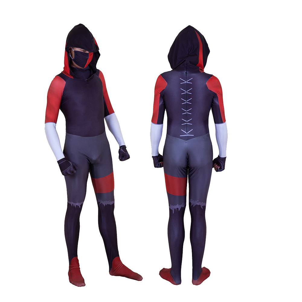 Adult Kids Battle Royale Game Ikonik Garbide Suit Cosplay Costume 3D Zentai Bodysuit Jumpsuits Halloween Mask Suits