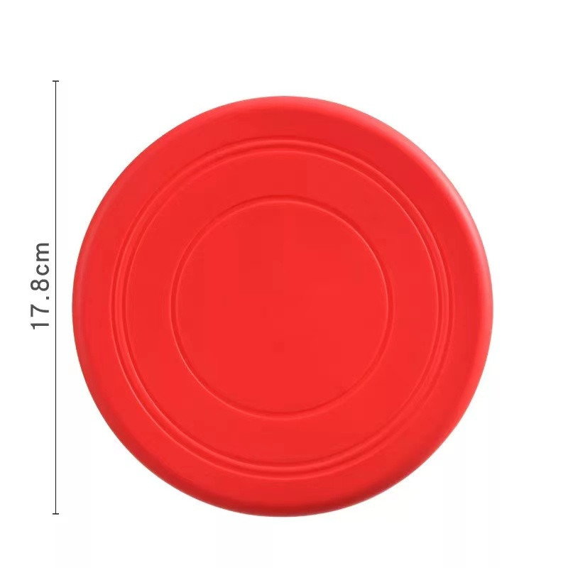 Colorful Toy For Puppy Dog Saucer Games Dogs Toys Large Pet Training Flying Disk Accessories French Bulldog Pitbull Cheap Goods 8