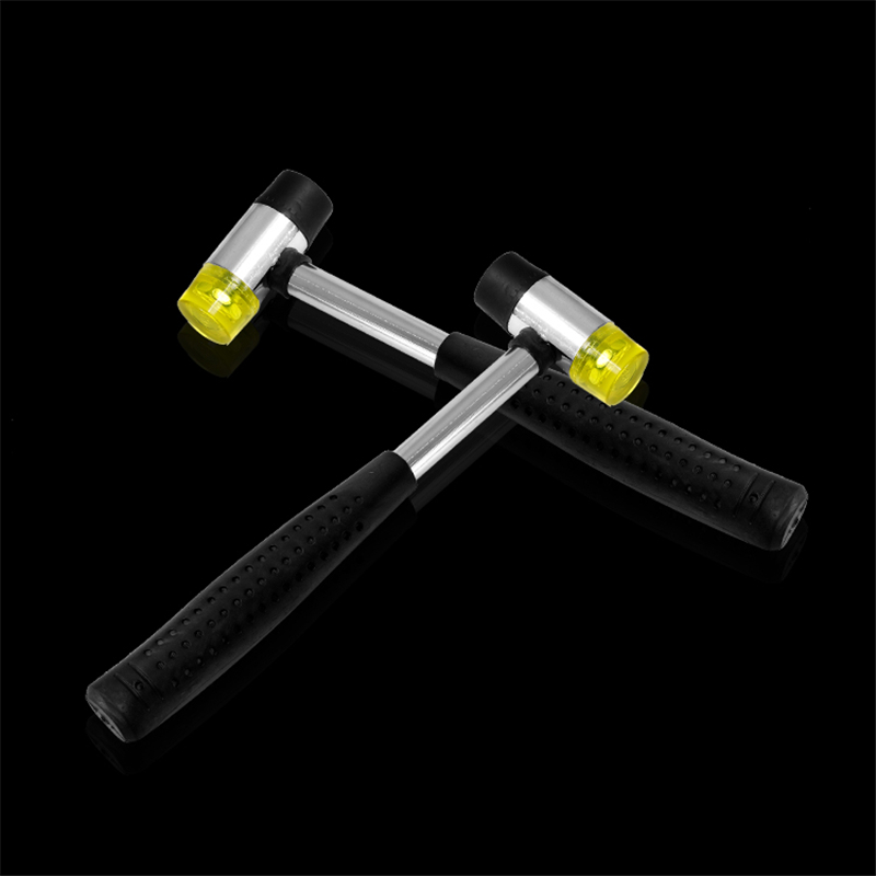 MIUSIE 1PCS Double Face Tap Rubber Hammer 25mm Multifunctional Glazing Window Beads Hammers Nylon Head Rubber Mallet