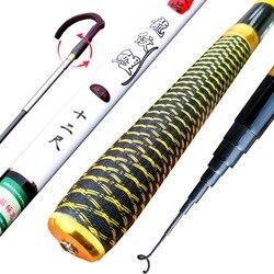 JOSBY Pesca Carbon Carp Fishing Rods Stream Telescopic Hand Feeder Pole Fly Tackle Peche Travel 2.7M 3.6M 4.5M 5.4M 6.3M 7.2M