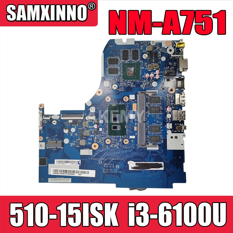 NM-A751 motherboard For Lenovo 310-<font><b>15ISK</b></font> <font><b>510</b></font>-<font><b>15ISK</b></font> laptop motherboard i3-6100U 4GB RAM GT940M-2G original Test motherboard image