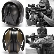 New Electronic Shooting Earmuff Outdoor Sports Anti-noise Sound Amplification Tactical Hearing Protective Headset Foldable