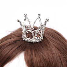 Girls Mini Crystal Crown Tiara Hair Combs Clear Stone Small Tiara Hair Accessories Fashion Jewelry(China)