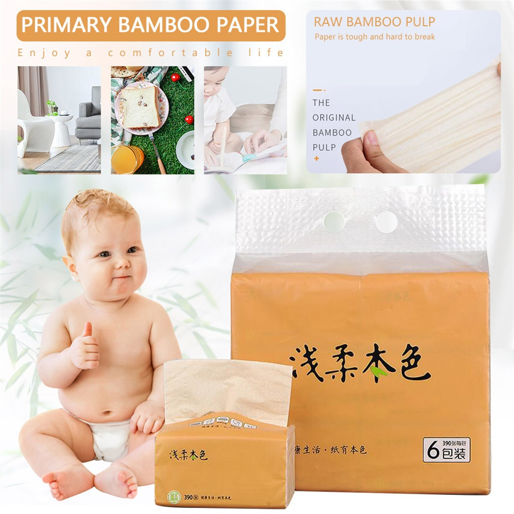 6 Packes Pumping Paper Towels Soft Pumping Toilet Paper Kitchen Towels Tissue Paper Napkins Pumping Baby Paper Towels #3