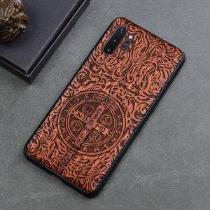 Image 4 - Чехол для телефона Samsung galaxy note 10, note 9, Оригинальный Деревянный чехол Boogic из ТПУ для Samsung s10, s20, note 10 plus, аксессуары для телефона