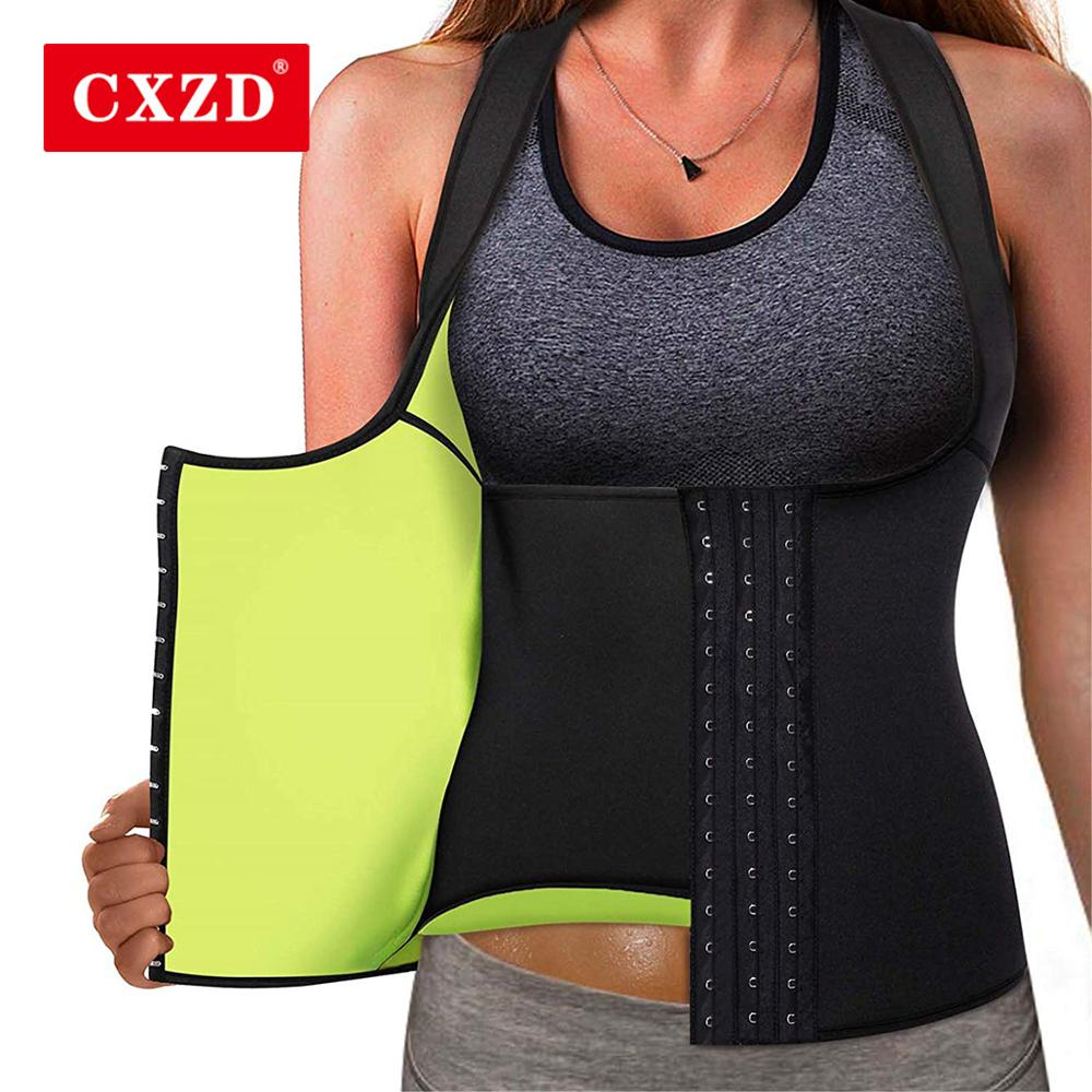 CXZD Women Neoprene Shaperwear Waist Trainer girdles slimming belt Waist Cincher Vest Tummy Belly Body Shaper fajas Colombianas