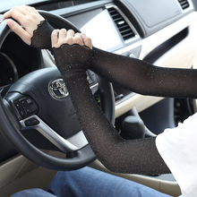 Women's summer mesh sunscreen sleeves long high stretch sunscreen gloves to cover scars tattoos driving and riding