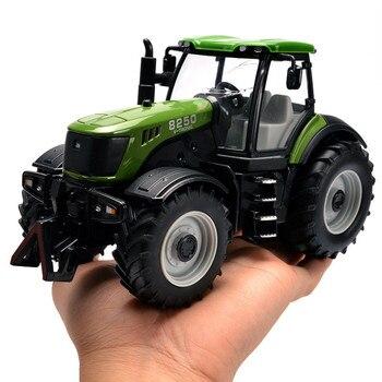 Alta qualidade 130 trator die cast modelo liga, simulado som e engenharia de correr de metal modelo de brinquedo, frete grátis