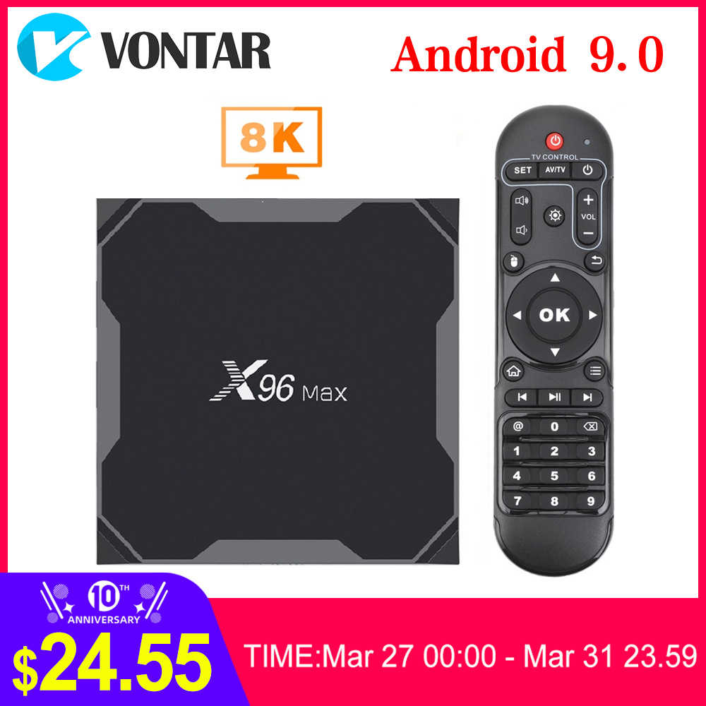 VONTAR X96Max TV BOX Android 9.0 Amlogic S905X3 Quad Core 4GB 32GB 64GB Wifi 1000M BT 4K Android décodeur X96 Max Plus TVBOX