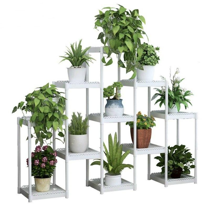 Flower shelf multi-storey indoor special balcony terrace flower stand multi-pot rack plastic window frame rack