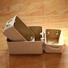 Foldable Storage Basket Oragnizer with Handle Sundries Storage Box for Books Magazines Cosmetics Stationery Remote Control