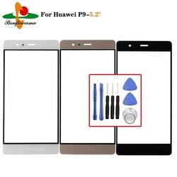 Внешний экран для Huawei P9 EVA-L19 Передняя Сенсорная панель ЖК-дисплей внешняя стеклянная крышка объектива
