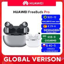W magazynie globalna wersja HUAWEI Freebuds Pro Smartearphone Qi bezprzewodowa funkcja ładowania ANC dla Mate 40 Pro P30 Pro