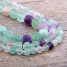 Fluorite Beads Natural Stone Colorful Round Loose Beads 16 Strand 4 6 8 10 12MM Pick Size For Jewelry Making DIY Bracelet purple fluorite natural stone loose round beads for jewelry making diy fluorite stone beads material 4 6 8 10 12mm wholesale