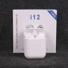 New i12 TWS wireless headphones bluetooth 5.0 earphone Mini Earbuds earphones Music Headset pk i10 i20 i30 for iPhon