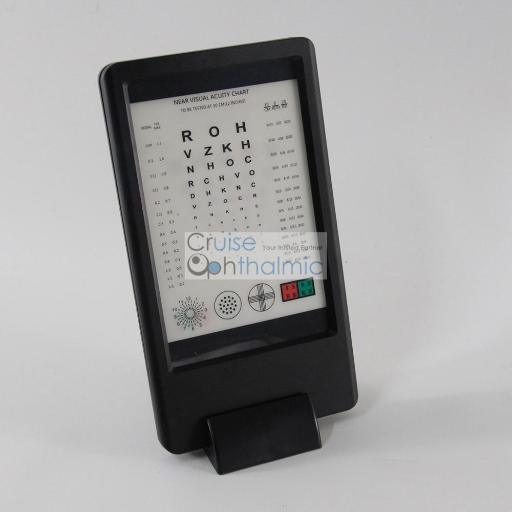 Akumulator 30 cm Tester wizyjny w pobliżu wzroku CP30 z linijką E i - Przyrządy pomiarowe - Zdjęcie 2