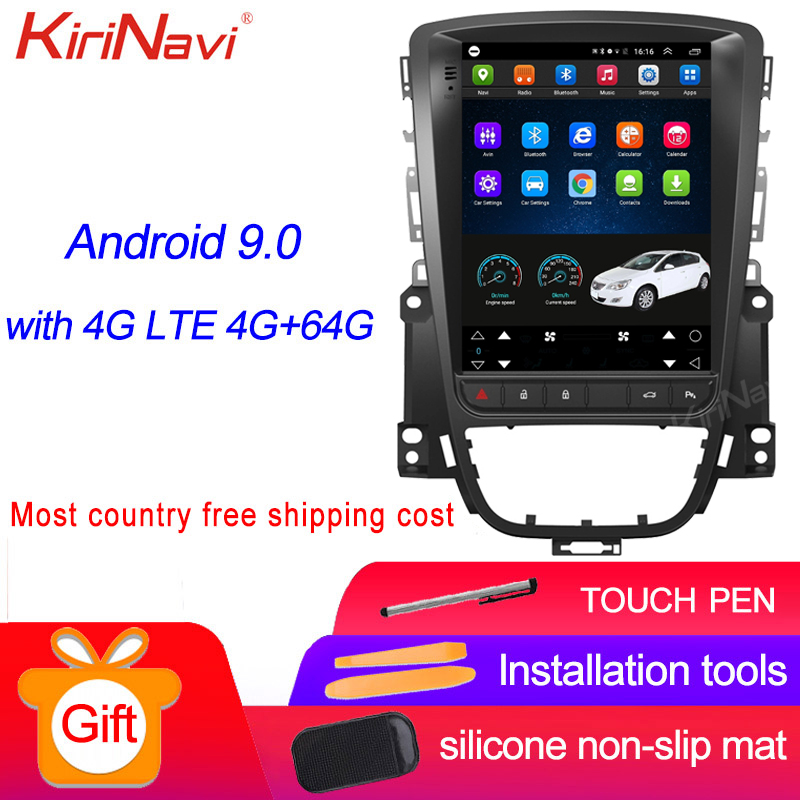 KiriNavi Vertical Screen Tesla Style 10.4'' Android 9.0 Car Radio For Opel ASTRA J Buick Car Dvd Player Auto GPS Navigation WIFI