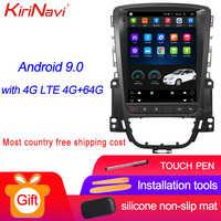 KiriNavi Vertical Screen Tesla Style 10.4'' Android 9.0 Car Radio For Opel ASTRA J Buick Car Dvd Player Auto GPS Navigation WIFI