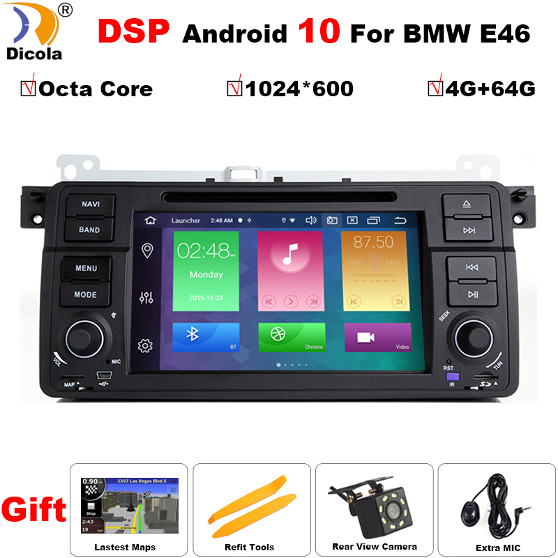 PX5 DSP IPS 1 Din Android 10 GPS навигация для BMW E46 M3 Rover 75 Coupe 318/320/325/330/335 автомобильный Радио dvd-плеер стерео image