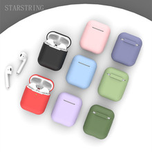 Silicone Case For apple Airpods Cover2 1 Protective Earphone Case Headphones Cases for apple Air pod case airpods Cover case tanie tanio STARSTRING CN(Origin) Earphone Cases 56*47*24mm For airpods 1 2