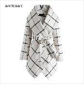 Autumn Winter Coat Women 2019 Fashion Vintage Slim Double Breasted Jackets Female Elegant Long Warm White Coat casaco feminino 29