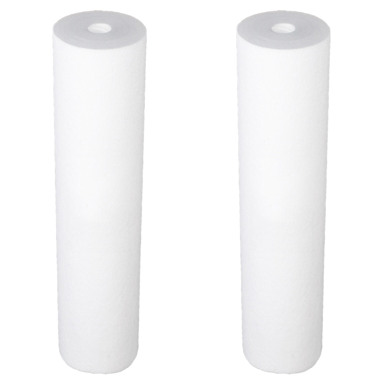 2Pcs/Set PP Cotton Filter Water Filter Purifier Filter 20 InchX 4.5 Inch Polypropylene Sediment Water Filter Cartridge