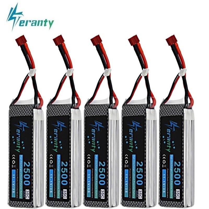 1Pcs/2Pcs/3Pcs/5Pcs/10Pcs 3s 11.1V 2500mAh 35C MAX 60C LiPO Battery for RC Robots Car Boats RC Drones Part 11.1v lithium Battery(China)
