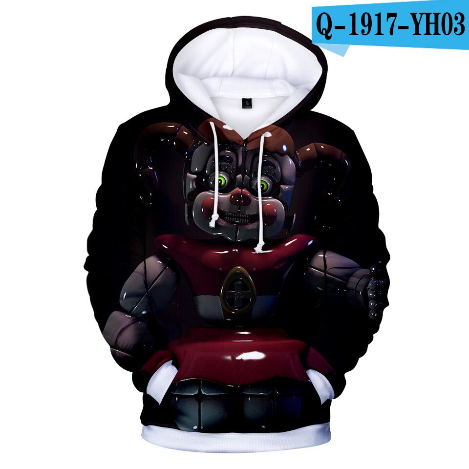 Hot Sale 3D Five Nights At Freddys Sweatshirt For Boys/Girl School Hoodies New Fashion Child FNAF Hoodies Autumn Winter Clothing