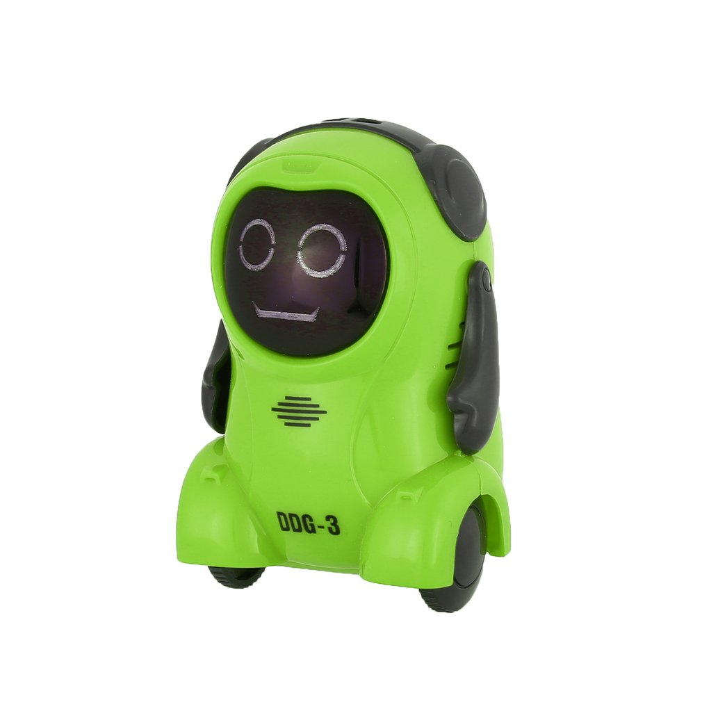 DDG-3 Intelligent Smart RC Robot Mini Pocket Voice Recording RC Robot Recorder Arm Wheeling 360 Rotating RC Toys for Kids Gifts