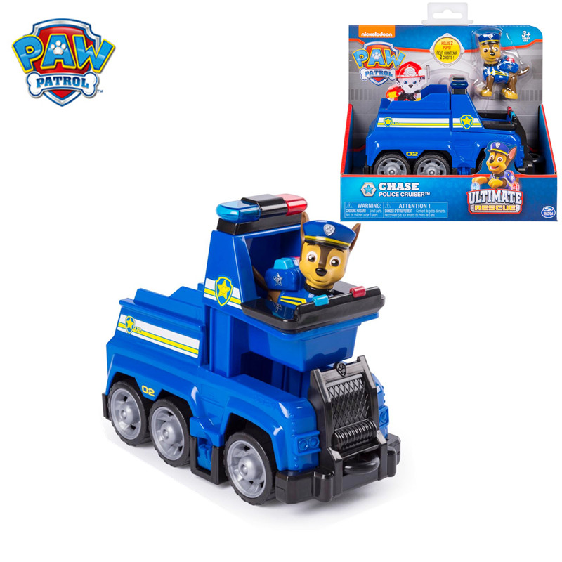 Original Box Paw Patrol Chase's Ultimate Rescue Police Cruiser Toy Set Anime Action Figure Model Cars Spin Master Toy Kid Gift