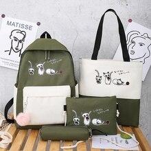 School-Bags Backpack Laptop Mochilas Girls Fashion Women for Teenage Cute-Pattern Anti-Theft