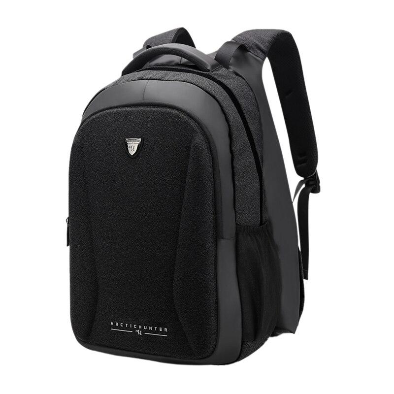 Arctique HUNTER extérieur multi-fonction voyage sac à dos chauffage sac à dos USB charge ordinateur sac étanche hommes sac noir